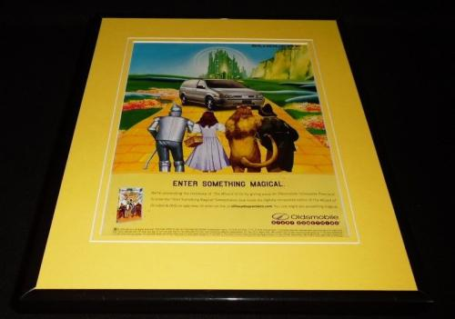 Wizard of Oz / Oldsmobile 1999 Framed 11x14 ORIGINAL Vintage Advertisement