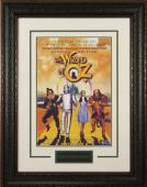 Wizard of Oz unsigned 22x30 Masterprint Movie Poster Leather Framed w/ Judy Garland (entertainment/photo)