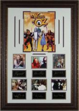 Wizard of Oz unsigned 27x39 Engraved Signature Series Leather Framed 7 Photos w/Cast (entertainment)