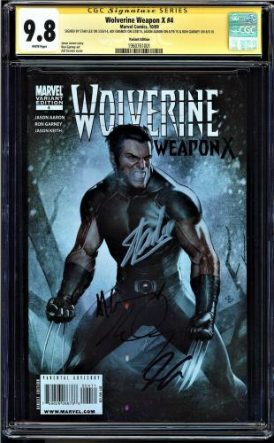 WOLVERINE WEAPON X #4 CGC 9.8 SS 4Xs STAN LEE VARIANT EDITION ED CGC #1960761001