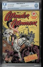 Wonder Woman #1 1942 Cbcs 7.5 Restored  White Pages 1st Issue Of Wonder Woman