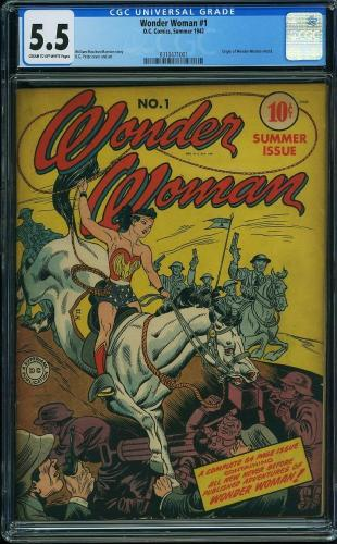 Wonder Woman #1 Cgc 5.5 1st Edition Wonder Woman Cgc #0310471001