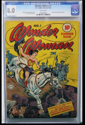 WONDER WOMAN #1 CGC 8.0 WHITE PAGES Wonder Woman Begins !!   #1199479001