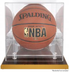 Wood-Based Basketball Display Case with Mirrored Back