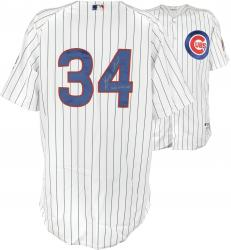 Majestic Kerry Wood Chicago Cubs 2005 Game-Used Autographed Jersey - White Pinstripe