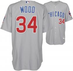 Wood, Kerry Unsigned (07 Game Used/grey/maj) Jersey