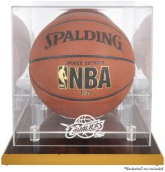 Cleveland Cavaliers Woodbase Team Logo Basketball Display Case with Mirrored Back