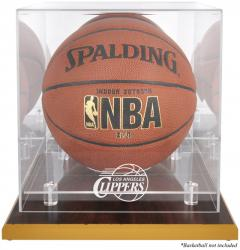 Los Angeles Clippers Woodbase Team Logo Basketball Display Case with Mirrored Back