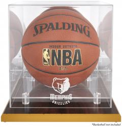 Memphis Grizzlies Woodbase Team Logo Basketball Display Case with Mirrored Back