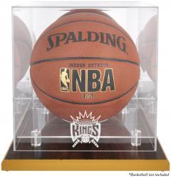 Sacramento Kings Woodbase Team Logo Basketball Display Case with Mirrored Back