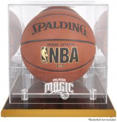 Orlando Magic Woodbase Team Logo Basketball Display Case with Mirrored Back