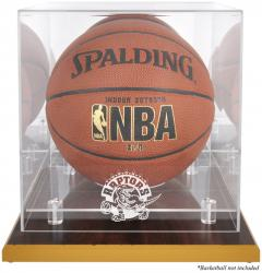 Toronto Raptors Woodbase Team Logo Basketball Display Case with Mirrored Back