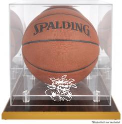Wichita State Shockers Wood Base Basketball Display Case with Mirrored Back - Mounted Memories