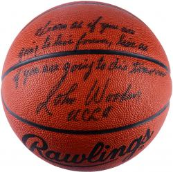 "Wooden, John Auto ""multi"" (psa/dna) Basketball"
