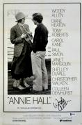 "Woody Allen Autographed 12"" x 18"" Annie Hall Movie Poster - Beckett COA"