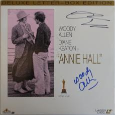 Woody Allen & Diane Keaton Signed Annie Hall Laser Disc Cover PSA/DNA #AB87422