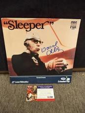 "Woody Allen & Diane Keaton Signed Auto ""sleeper"" Videodisc Cover Psa/dna F99685"