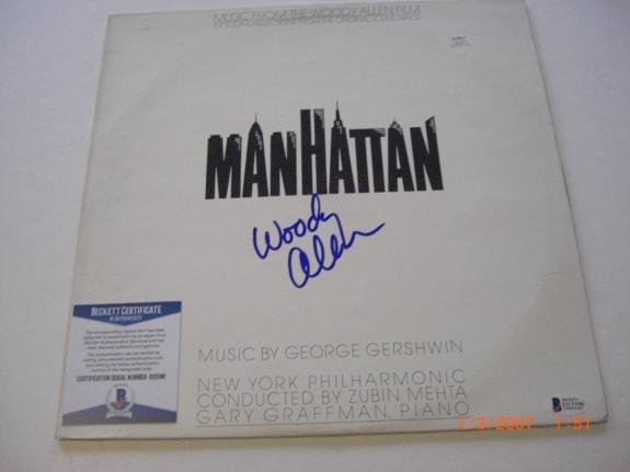 Woody Allen Manhattan Famous Actor Beckett/coa Signed Lp Record Album