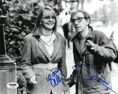 Woody Allen/Diane Keaton Signed Autographed 8x10 B/W Photo PSA/DNA #AC78286