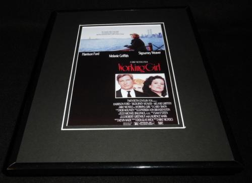 Working Girl Framed 11x14 Poster Display Sigourney Weaver Harrison Ford