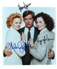 "WORKING GIRL"" Signed by HARRISON FORD, SIGOURNEY WEAVER, and MELANIE GRIFFITH 8x10 Color Photo"