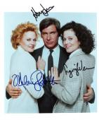 """WORKING GIRL"""" Signed by HARRISON FORD, SIGOURNEY WEAVER, and MELANIE GRIFFITH 8x10 Color Photo"""