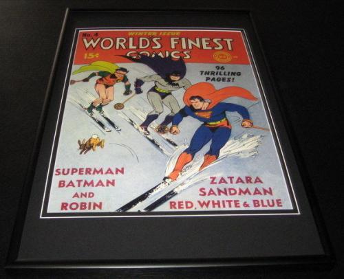 World's Finest Comics #4 Framed 10x14 Cover Poster Photo Batman Superman Robin