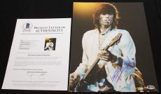 WOW Keith Richards signed 11 x 14, The Rolling Stones, Forty Licks, Beckett BAS