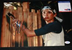WOW * Ralph Macchio signed 11 x 14, Karate Kid, The Outsiders, Proof, PSA/DNA