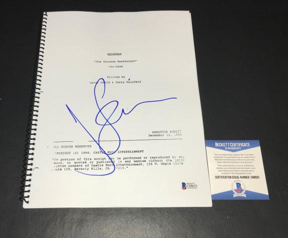 Wow Seinfeld The Chinese Restaurant Script Jerry Seinfeld Signed Auto Bas Coa 5