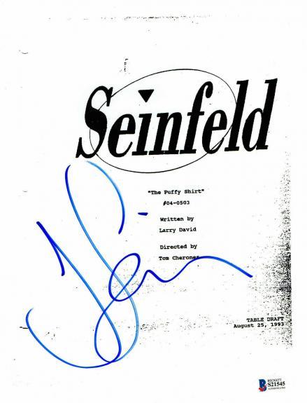 Wow Seinfeld The Puffy Shirt Script Jerry Seinfeld Signed Auto Bas Coa 1