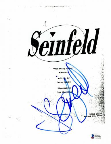 Wow Seinfeld The Puffy Shirt Script Jerry Seinfeld Signed Auto Bas Coa 2