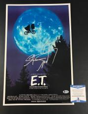 Wow Steven Spielberg Signed E.t. 12x18 Photo Authentic Autograph Beckett Beckett