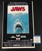 Wow Steven Spielberg Signed Jaws 12x18 Photo Authentic Autograph Beckett Bas Coa