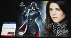 WOW Victoria Atkin signed 8 x 10, Evie Frye, Assassin's Creed, PSA/DNA