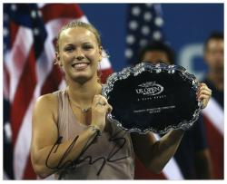 "Caroline Wozniacki Autographed 8"" x 10"" 2009 US Open Photograph"