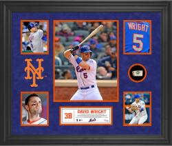 David Wright New York Mets Framed 5-Photo Collage with Piece of Game-Used Ball