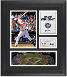 "David Wright New York Mets Framed 15"" x 17"" Collage with Game-Used Baseball"