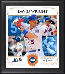 "David Wright New York Mets Framed 15"" x 17"" Collage with Piece of Game-Used Ball"