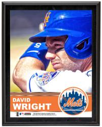 David Wright New York Mets Sublimated 10.5'' x 13'' Plaque - Mounted Memories