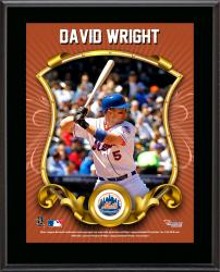 "David Wright New York Mets Sublimated 10.5"" x 13"" Stylized Plaque"