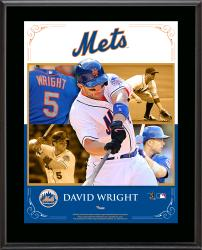 "David Wright New York Mets Sublimated 10.5"" x 13"" Composite Plaque"