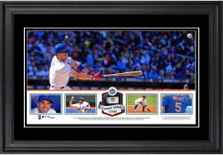 David Wright New York Mets Framed Panoramic with Piece of Game-Used Ball - Limited Edition of 500