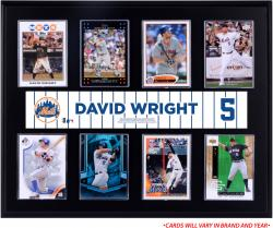 "David Wright New York Mets Sublimated 12"" x 15"" Trading Card Plaque"
