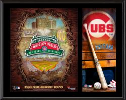 "Chicago Cubs Wrigley Field 100th Anniversary Sublimated 12"" x 15"" Plaque"
