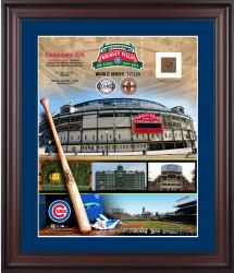 """Chicago Cubs Wrigley Field 100th Anniversary Framed 16"""" x 20"""" Collage Photograph with Piece of Brick - Limited Edition of 500"""