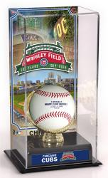 Chicago Cubs Wrigley Field 100th Anniversary Gold Glove Baseball Display Case