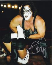 Wwe Wcw Wwf Sting Signed 8x10 Photo Authentic Autograph Wrestlemania Coa Proof A