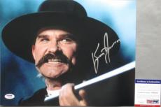 WYATT EARP Kurt Russell Signed Hell's Comin With Me TOMBSTONE 11x14 Photo #3 PSA