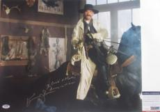WYATT EARP Kurt Russell Signed TOMBSTONE 16x20 Photo #4 PSA Crazy Inscription